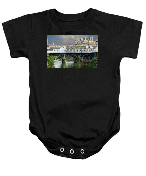 Historic Pulteney Bridge Baby Onesie