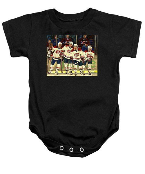 Hockey Art The Habs Fab Four Baby Onesie