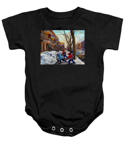Hockey On De Bullion  Baby Onesie
