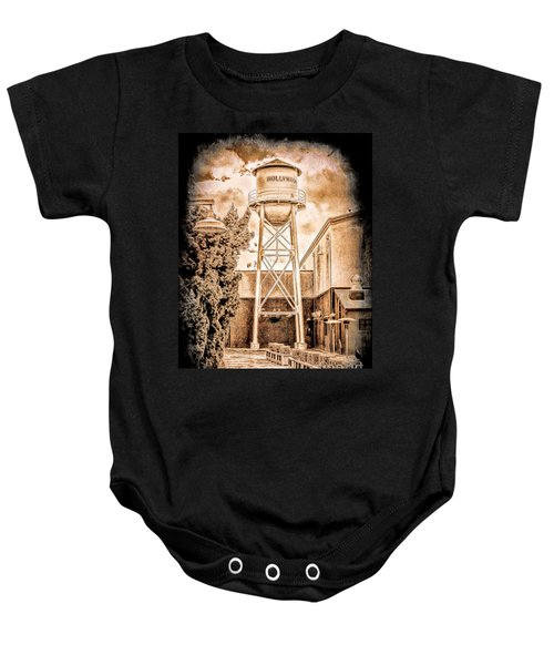 Hollywood Water Tower Baby Onesie