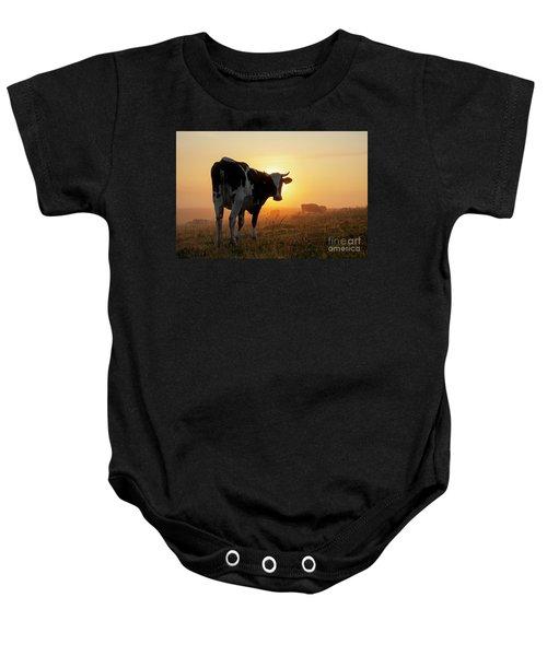 Holstein Friesian Cow Baby Onesie
