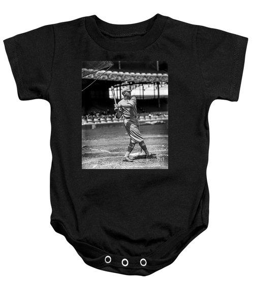 Home Run Babe Ruth Baby Onesie by Jon Neidert