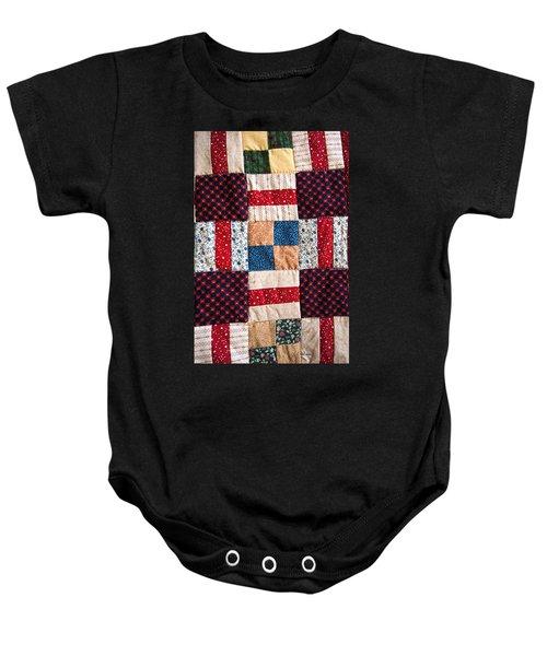 Homemade Quilt Baby Onesie