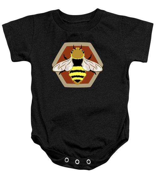 Honey Bee Graphic Baby Onesie