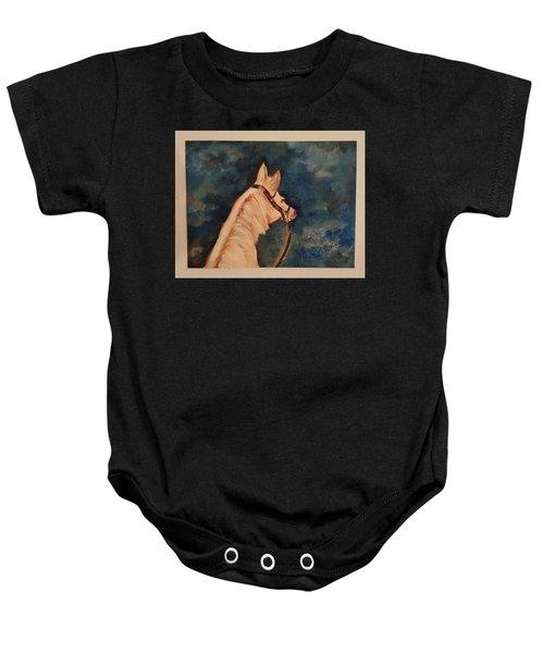Honey Palomino Horse 28 Baby Onesie