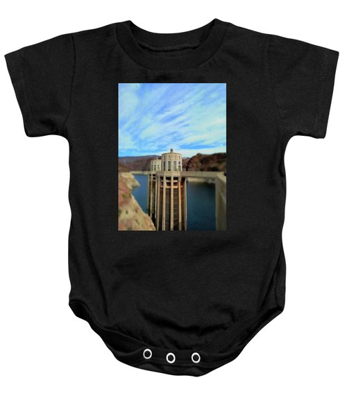 Hoover Dam Intake Towers No. 1 Baby Onesie by Sandy Taylor