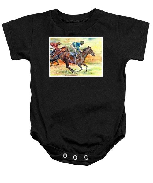 Horse Races Baby Onesie