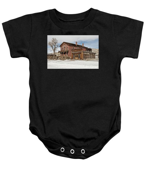 Hotel Meade And Saloon Baby Onesie