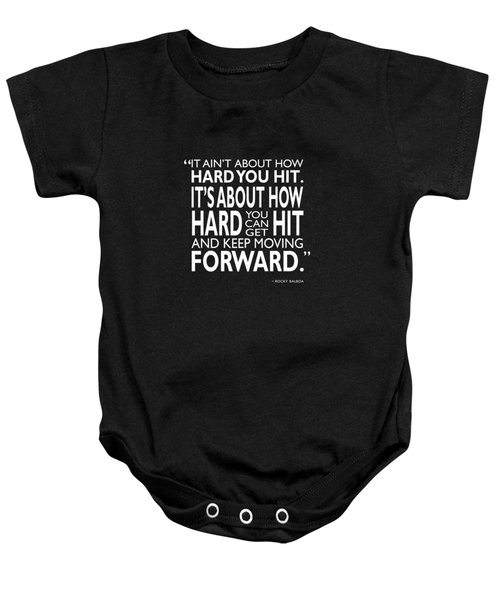 How Hard You Hit Baby Onesie