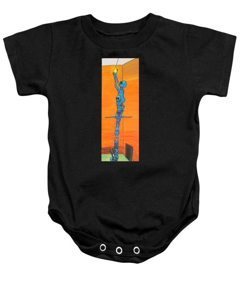 How Many Aliens Does It Take To Screw In A Light Bulb?  Seven. Baby Onesie