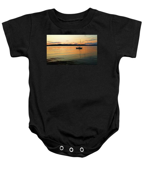 Hudson River From Irvington In Westchester County Baby Onesie