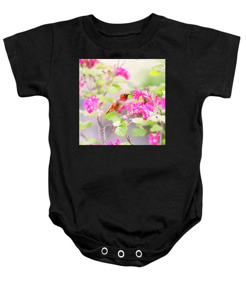 Hummingbird In Spring Baby Onesie