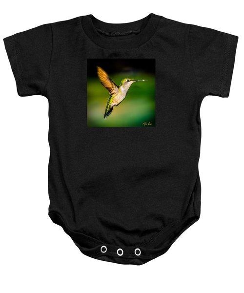 Hummingbird Sparkle Baby Onesie