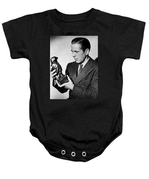 Humphrey Bogart Holding Falcon The Maltese Falcon 1941  Baby Onesie