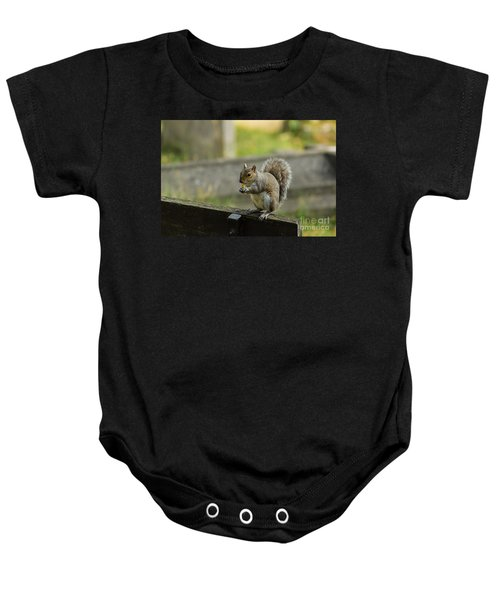 Hungry Squirrel Baby Onesie