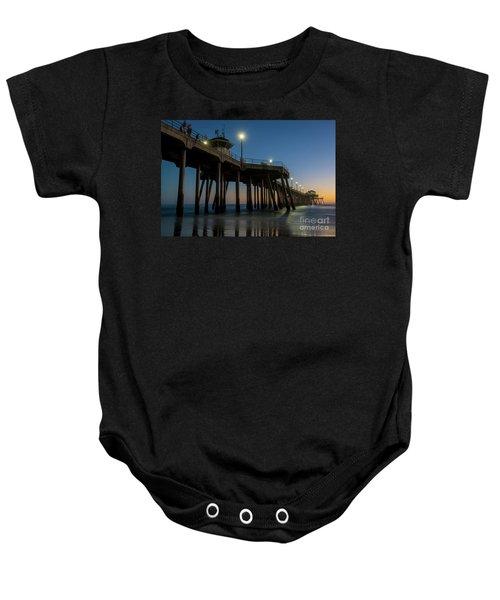 Huntington Beach Pier At Dusk Baby Onesie