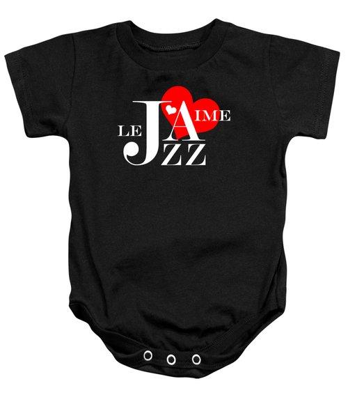 I Love Jazz Baby Onesie