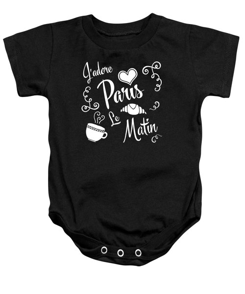 I Love Paris Mornings Baby Onesie by Antique Images