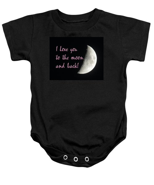 I Love You To The Moon Pink Baby Onesie