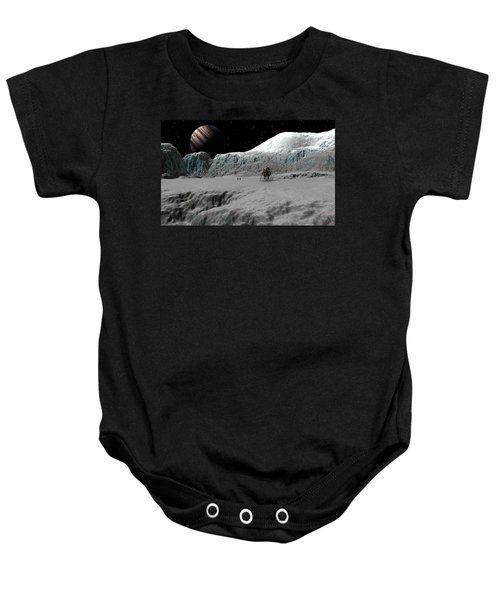 Ice Cliffs Of Europa Baby Onesie