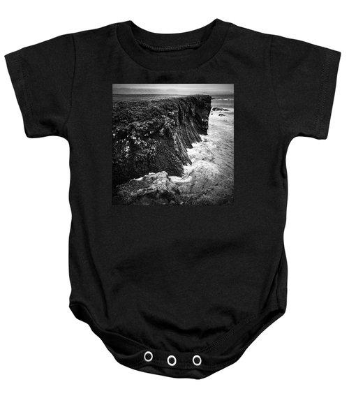 Iceland Coast Black And White Baby Onesie
