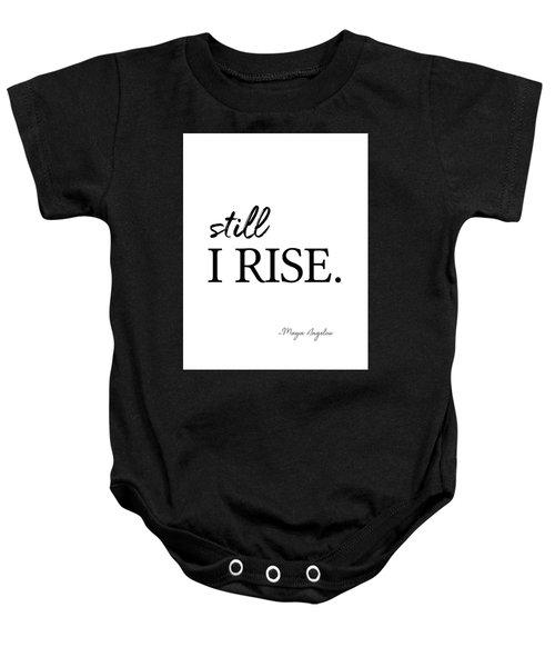 I'll Rise #minimalism 3 Baby Onesie