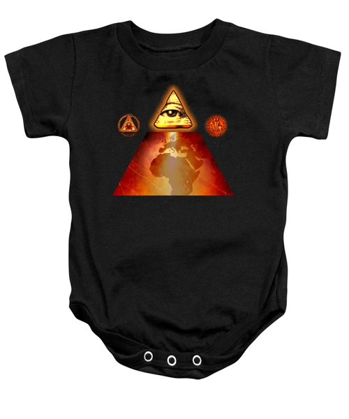 Illuminati World By Pierre Blanchard Baby Onesie