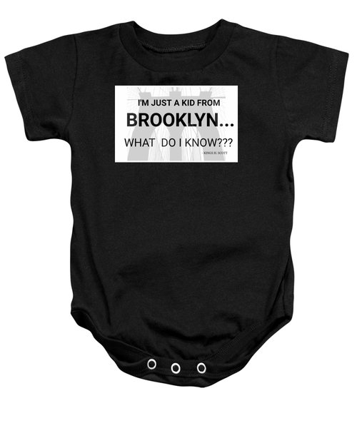 I'm Just A Kid... Baby Onesie by Pat Odom