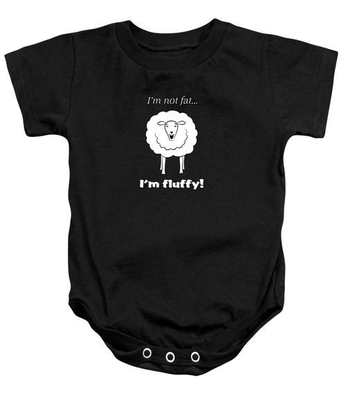 I'm Not Fat Baby Onesie by Methune Hively