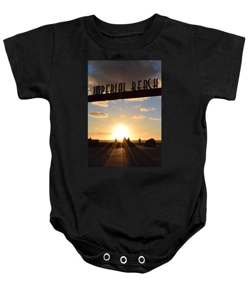 Imperial Beach At Sunset Baby Onesie