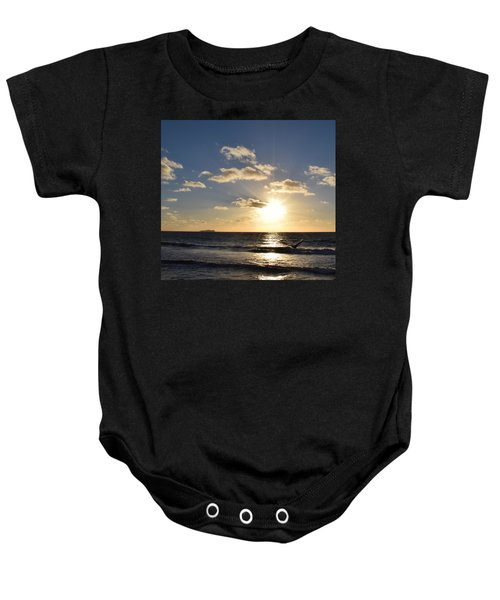 Sunset Reflection At Imperrial Beach Baby Onesie