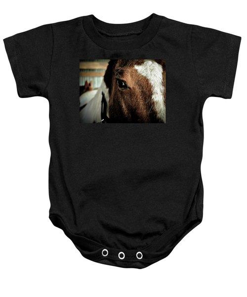 In A Horse's Eye Baby Onesie