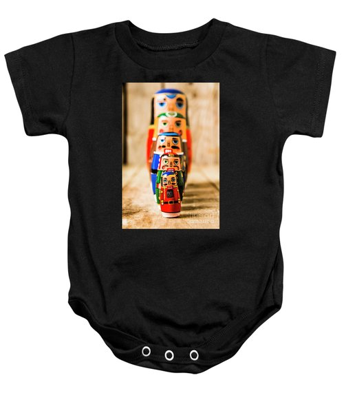 In Figurative Scale Baby Onesie