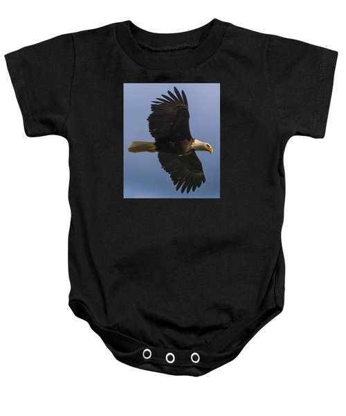 Baby Onesie featuring the photograph In Flight by Gary Lengyel