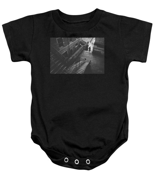 In Pursuit Of The Devil On The Stairs Baby Onesie