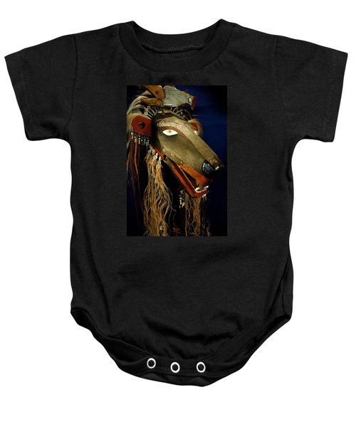 Indian Animal Mask Baby Onesie
