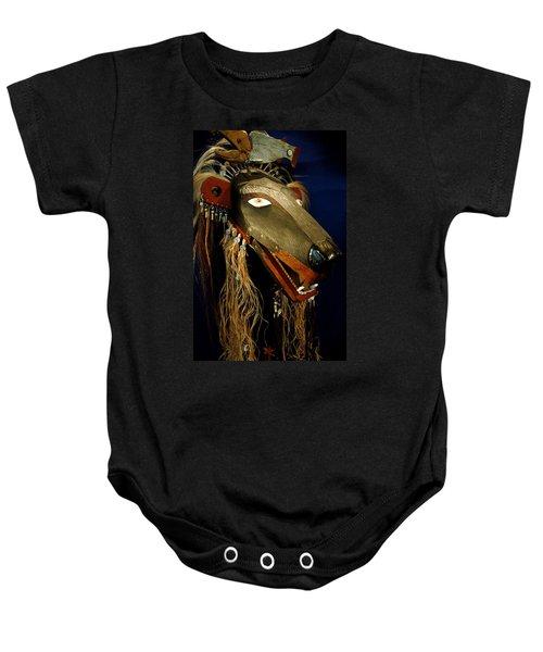 Indian Animal Mask Baby Onesie by LeeAnn McLaneGoetz McLaneGoetzStudioLLCcom