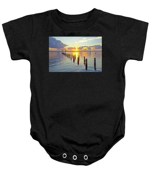 Indian River Sunrise Baby Onesie