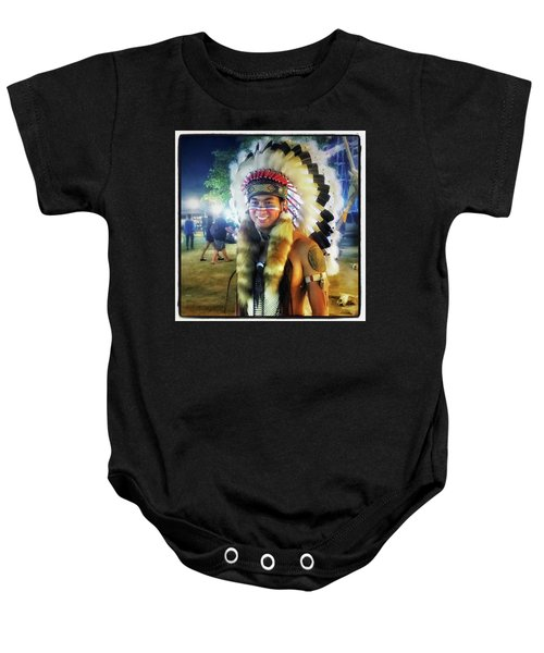 Baby Onesie featuring the photograph Indians Invade Thailand. Cowboys Too by Mr Photojimsf