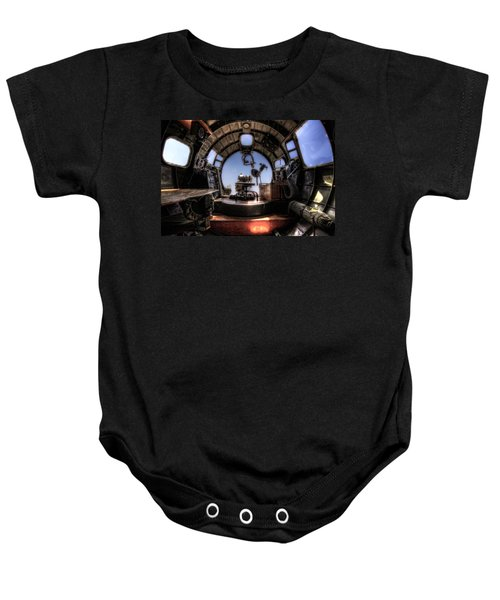 Inside The Flying Fortress Baby Onesie
