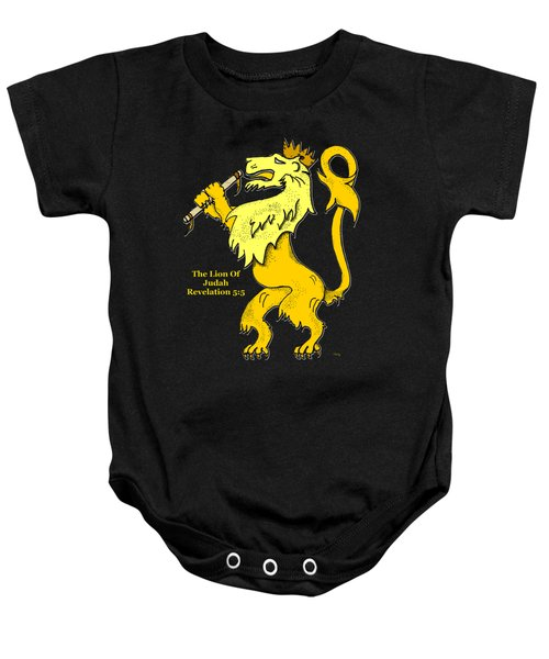 Inspirational - The Lion Of Judah Baby Onesie by Glenn McCarthy Art and Photography