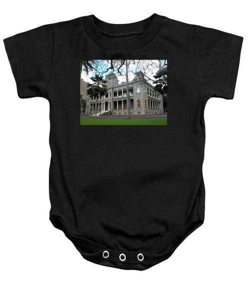 Baby Onesie featuring the photograph Iolani Palace, Honolulu, Hawaii by Mark Czerniec