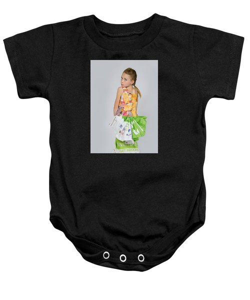 Irene In Tea Bags Shirt And Banners Skirt Baby Onesie