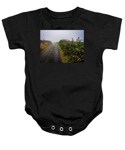Baby Onesie featuring the photograph Irish County Road In Autumn by James Truett