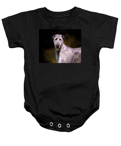 Irish Wolfhound Portrait Baby Onesie