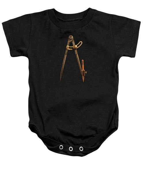 Iron Compass Pattern Baby Onesie