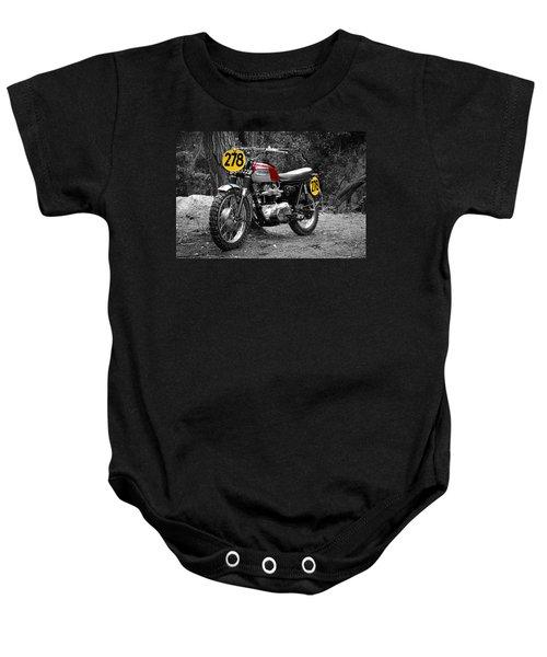 Isdt Triumph Steve Mcqueen Baby Onesie