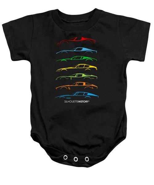 Italian Sports Cars 60s Silhouettehistory Baby Onesie