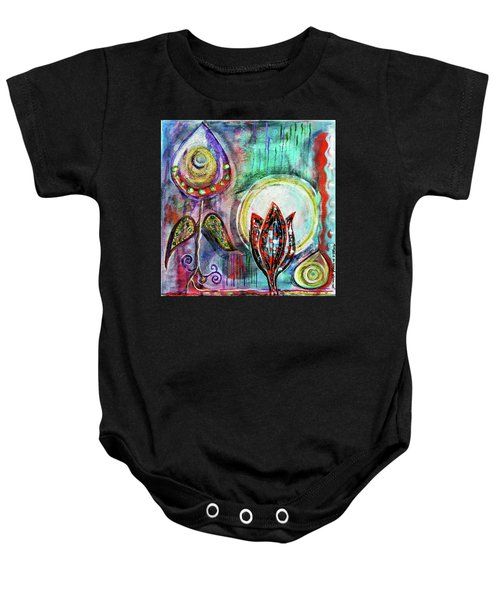 It's Connected To The Moon Baby Onesie