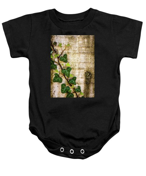 Ivy On The Fence Post Baby Onesie